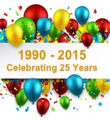1990 - 2015 Celebrating 25 Years of supplying blinds