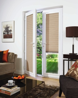 Pleated Blind in Lounge Door Windows