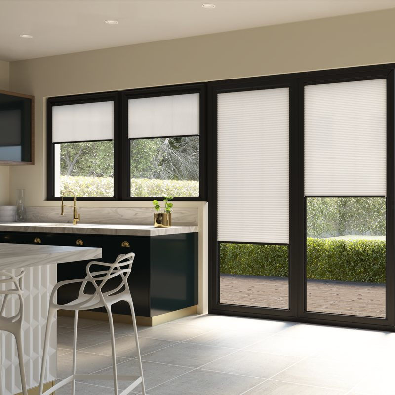 Pleated blinds for bi-fold doors