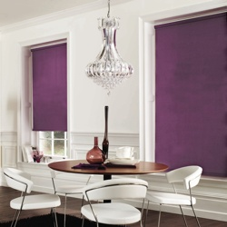 Roller Blind in Contemporary Lounge Windows