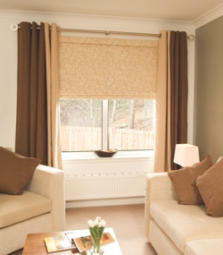 Roman Blind on Lounge Window