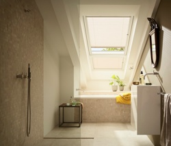 Velux Blind in Bathroom Window